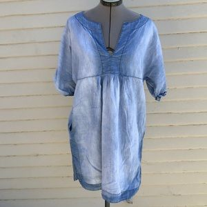 Zara woman denim smock dress size large